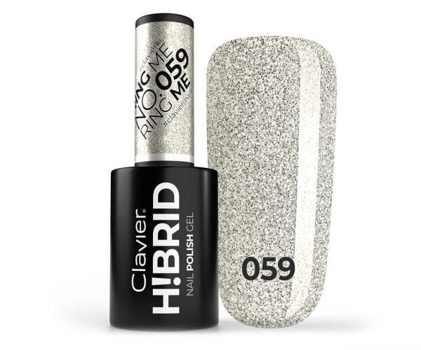 Lakier hybrydowy brokatowy, glitter H!BRID – 059 – Ring Me