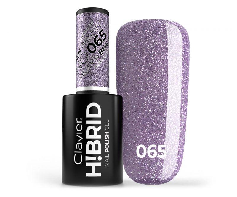 Lakier hybrydowy brokatowy, glitter H!BRID – 065 – Hidden Beauty