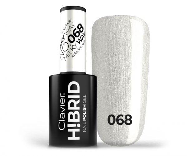 Lakier hybrydowy brokatowy, glitter H!BRID – 068 – Milky Way