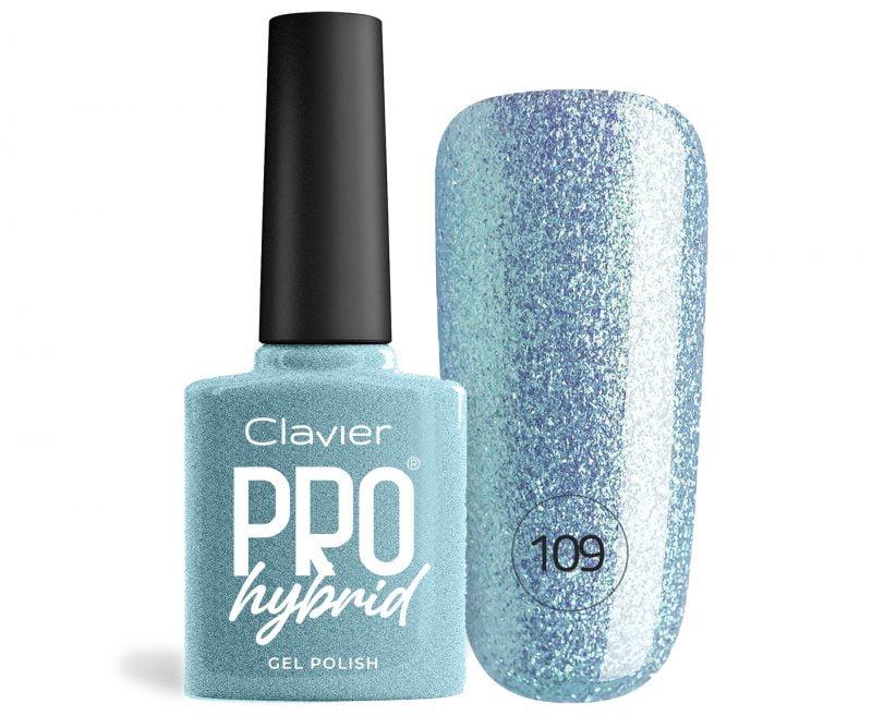 Lakier Hybrydowy – ProHybrid do Paznokci nr 109 – Aquaglitterina (Glitter)
