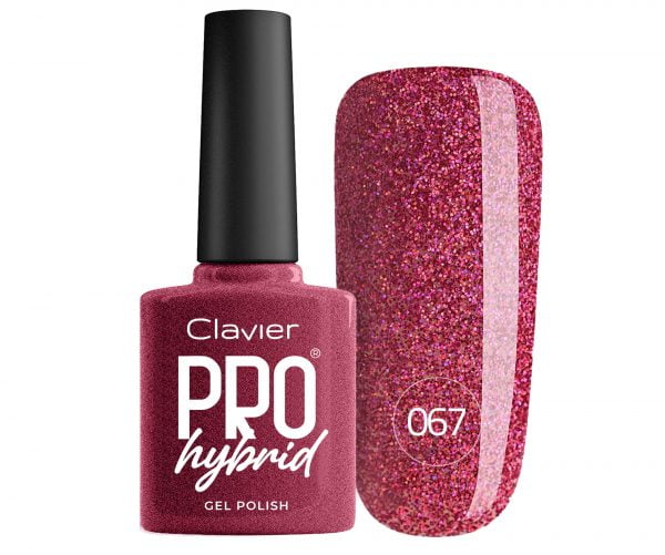 Lakier Hybrydowy – ProHybrid do Paznokci nr 067 – Pink Galaxy (Glitter)