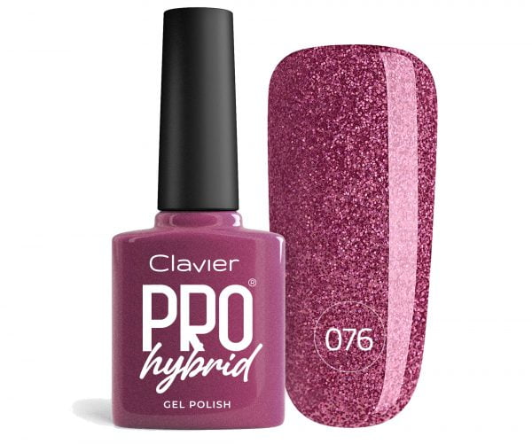 Lakier Hybrydowy – ProHybrid do Paznokci nr 076 – Lush Violet (Glitter)