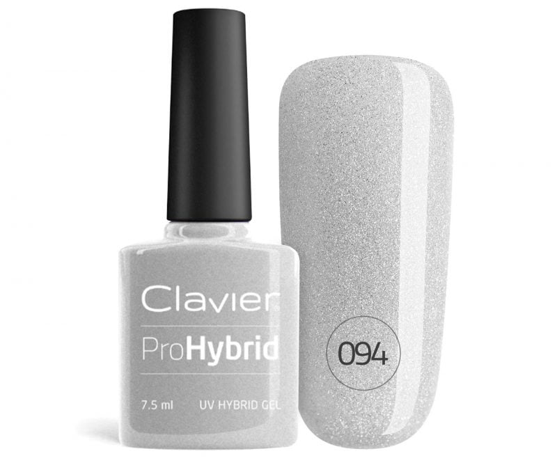 Lakier Hybrydowy – ProHybrid do Paznokci nr 094 – Queen Greyness (Glitter)