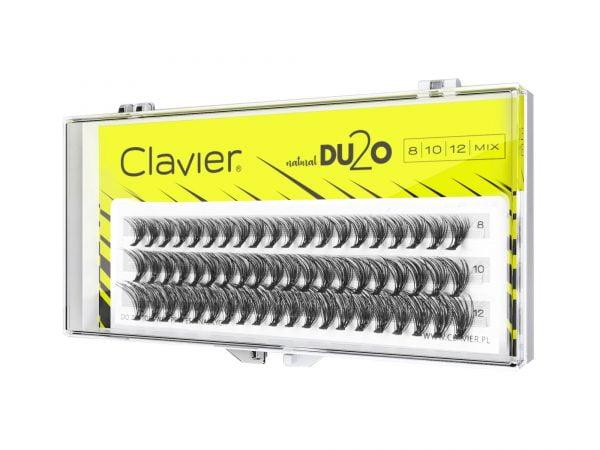 Kępki Rzęs MIX Clavier 8-10-12mm – D2UO Double Volume