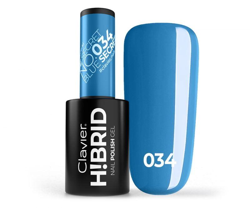 Lakier hybrydowy H!BRID – 034 Blue Secret