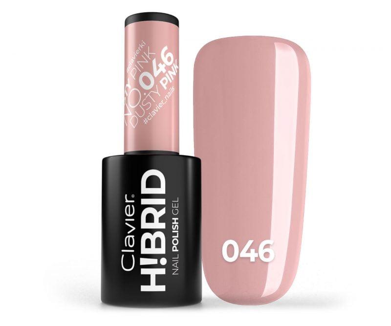 Lakier hybrydowy H!BRID – 046 Dusty Pink