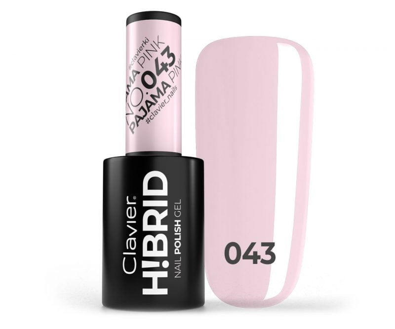 Lakier hybrydowy H!BRID – 043 Pajama pink