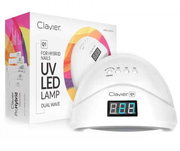 Lampa UV LED do Paznokci – CLAVIER – Q1, Hybryd, Żeli 48W