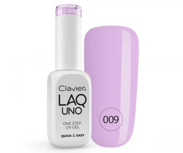 Lakier 3w1 + GRATIS, LaqUno Clavier One Step Gel Hybrydowy, Monofazowy 8ml – Violentine's 009