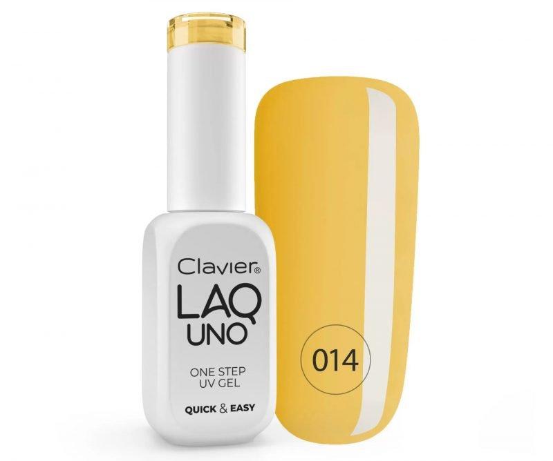 Lakier 3w1 + GRATIS, LaqUno Clavier One Step Gel Hybrydowy, Monofazowy 8ml – Midnoon 014