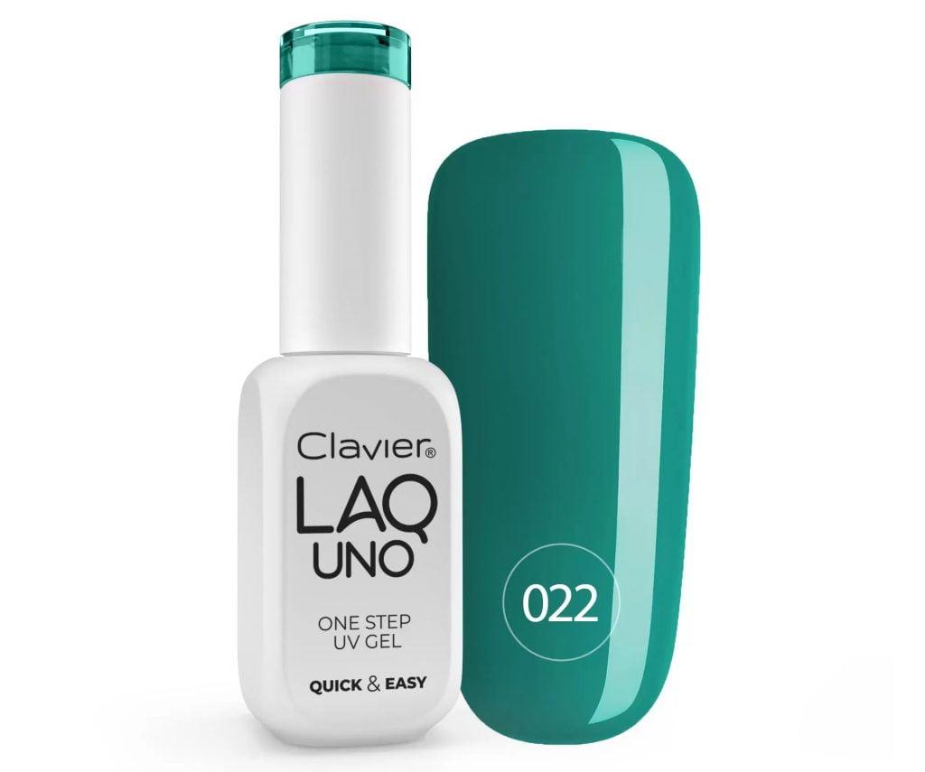 Lakier 3w1 + GRATIS, LaqUno Clavier One Step Gel Hybrydowy, Monofazowy 8ml – Mossy Forest 022