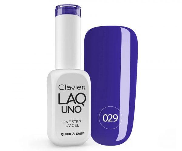 Lakier 3w1 + GRATIS, LaqUno Clavier One Step Gel Hybrydowy, Monofazowy 8ml – Midnight 029