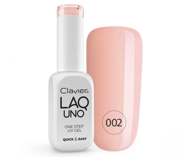 Lakier 3w1 + GRATIS, LaqUno Clavier One Step Gel Hybrydowy, Monofazowy 8ml – Skinny 002